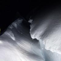 Gletscherspalten auf dem Weg Richtung Paso Guillaumet