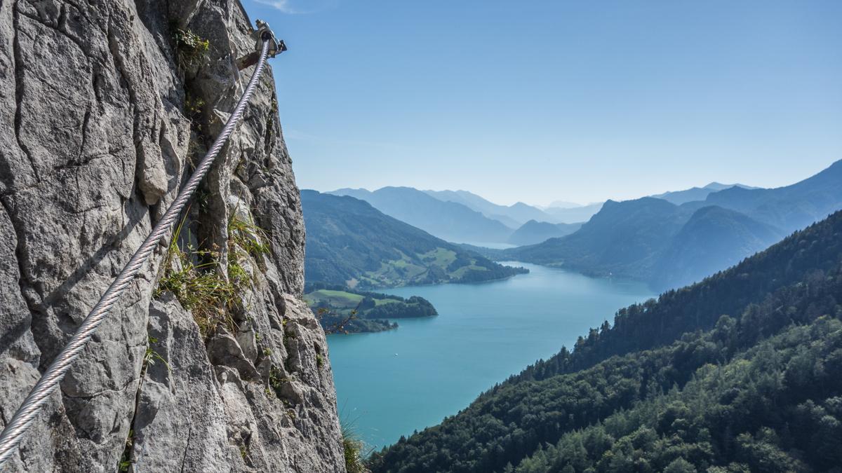 Klettersteig Mondsee : Stefanbrunner at drachenwand klettersteig mit bergführer ab u ac