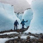 bizarre Eisformationen am Marconi Gletscher
