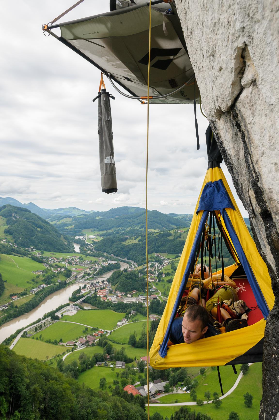 klettern, climbing, Biwak